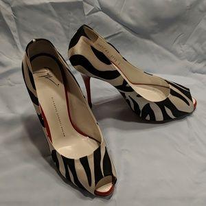 Giuseppe Zanotti - Zebra Hidden Platform Heels
